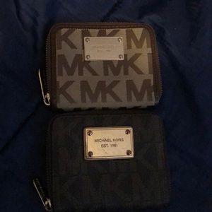 Two Michaels Kors wallet